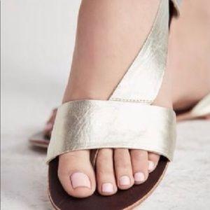 Free People Under Wraps Gold Metallic Sandals